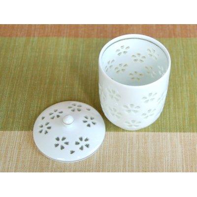Photo3: Suisho hanazume (Small) Japanese green tea cup (wooden box)
