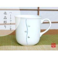 Suisyo heart line (Blue) mug