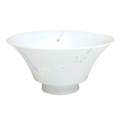 [Made in Japan] Suisyo hana asobi (Blue) rice bowl