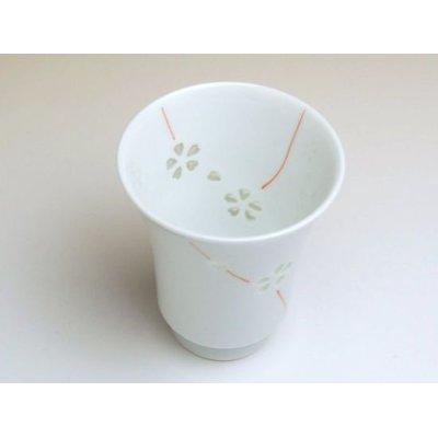 Photo3: Suisyo Hana asobi (Red) Japanese green tea cup