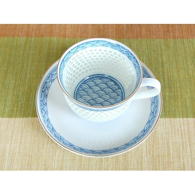 Photo3: Suisho seikainami Cup and saucer