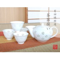Suisho hanazume Tea set (5 cups & 1 pot)