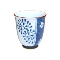 Umedami karakusa (Blue) Japanese green tea cup