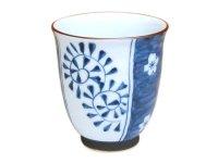Umedami karakusa (Blue) Japanese green tea cup