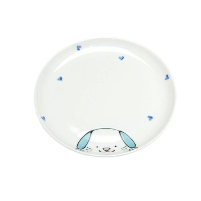 [Made in Japan] <Child tableware>Niko Niko club doggy Plate (Large)