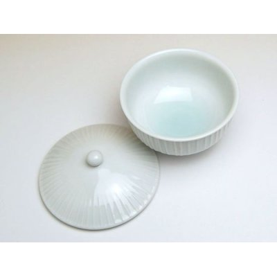 Photo3: Hakuji tatesuji Japanese green tea cup