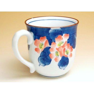 Photo2: Hana tsudoi (Red) mug