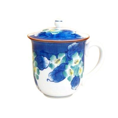 [Made in Japan] Hana tsudoi with cover (Blue) mug