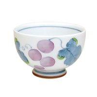 Muscat grapeJapanese green tea cup