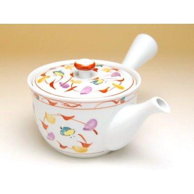 Photo2: Nishiki chidori Tea set (5 cups & 1 pot)