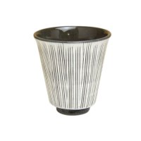 Senbori (Black) Japanese green tea cup