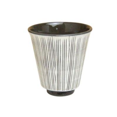 [Made in Japan] Senbori (Black) Japanese green tea cup