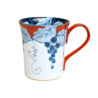Fuchi dami budou grape (Red) mug