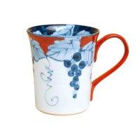 Fuchi dami budou grape (Red) mug