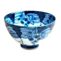 Fuchi dami budou grape (Extra large) rice bowl