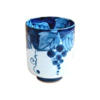 Fuchi dami budou grape (Extra large) Japanese green tea cup