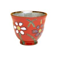 Omoi Hana (Red) Japanese green tea cup
