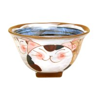 Nakayoshi neko cats (Blue) rice bowl