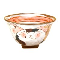 Nakayoshi neko cats (Red) rice bowl