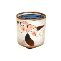 Nakayoshi neko cats (Blue) Japanese green tea cup