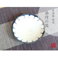 Edo hana ten-mon Medium plate (15cm)