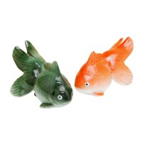 Hime kingyo goldfish (Green & Red) Ornament doll