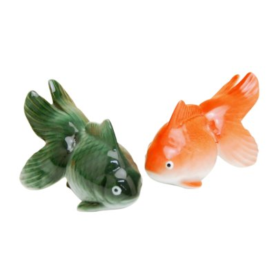 [Made in Japan] Hime kingyo goldfish (Green & Red) Ornament doll